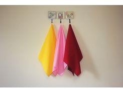Набор полотенец для кухни Желтый/Розовый/Бордо 50*70 см MacroHorizon™ 3 шт.