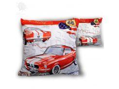 Подушка декоративная на молнии «Ford Mustang 1967г.» Carmani