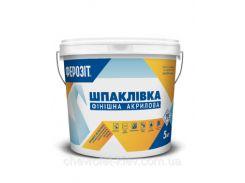 Ферозіт 1  Шпаклівка акрилова фінішна (створює ідеально гладке покриття для фарбування) 5 кг