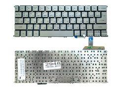 Клавиатура для ноутбука Acer Aspire S7-191, серая без рамки, Прямой Enter, Подсветка (MP-12A53SUJ4422)