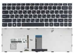 Клавиатура Lenovo IdeaPad G40-30 G40-45 G40-70 G40-75 Z40-70 Z40-75 Flex 2-14, черная/серая, подсветка, Оригинал (25215630)