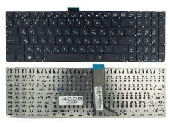 Клавиатура Asus K555L K555LA K555LD K555LN K555LP X553M K553M F553M черная без рамки, Прямой Enter, Оригинал