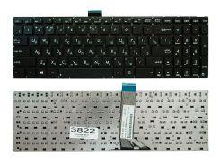 Клавиатура Asus X502 X502C X502CA S500 S500C S500CA, черная без рамки, Прямой Enter, с креплением
