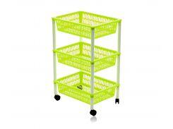 Этажерка Heidrun Baskets трехъярусная, 40*30*66см Салатовая (HDR-1563)