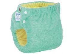 Подгузник трикотажный Easy Size Classic 12-17, со вкладышем Abso Maxi (зеленый), Эко Пупс