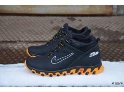 Мужские кожаные зимние кроссовки Nike (Реплика)