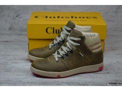 Мужские кожаные зимние ботинки Clubshoes