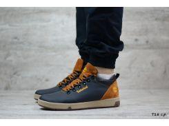 Мужские кожаные зимние ботинки Timberland (Реплика)