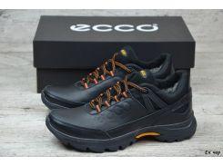 Мужские кожаные зимние ботинки Ecco  (Реплика)