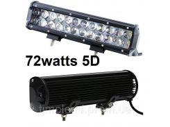 Автофара LED (24 LED) 5D-72W-MIX