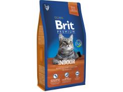 Сухой корм для взрослых кошек с курицей Brit Premium Adult Indoor 8 кг (8595602513253)