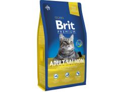 Сухой корм для взрослых кошек с лососем Brit Premium Adult Salmon 8 кг (8595602513130)
