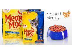 Сухой корм Meow Mix Seafood Medley для взрослых кошек 6.44 кг (082927450229)