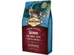 Сухой корм для взрослых кошек с чувствительным пищеварением Carnilove Salmon Sensitive & Long Hair 2 кг (8595602512287)