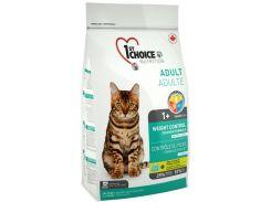 Сухой корм для взрослых котов 1st Choice Adult Weight Control со вкусом курицы 5.44 кг