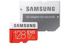 Samsung 128GB microSD Сlass 10 Evo Plus UHS-I U3 + Sd adapter (MB-MC128GA/RU)