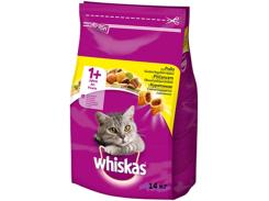 Сухой корм для взрослых кошек Whiskas с курицей 14кг (5900951014352)