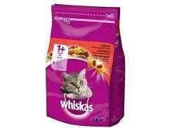 Сухой корм для взрослых кошек Whiskas с говядиной 14кг (5900951014345)
