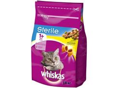 Сухой корм для стерилизованных кошек Whiskas с курицей 14кг (5900951259418)