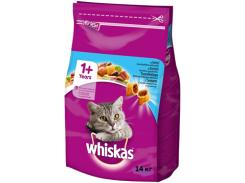 Сухой корм для взрослых кошек Whiskas с тунцом 14кг (5900951014390)