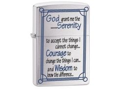 Зажигалка Zippo 200 Serenity Prayer Brushed Chrome (24355)