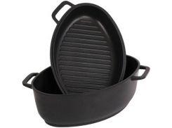 Гусятница + сковорода Биол Г601П (6.0 л)