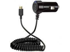 Scosche Car Charger Eztip 12W 2.4A Black Reversible with Integrated microUSB Cable (EZC12)