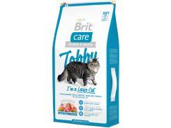 Сухой корм для кошек крупных пород с курицей и уткой Brit Care Tobby I am a Large Cat 7 кг (8595602512980)