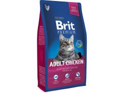 Сухой корм для взрослых кошек с курицей Brit Premium Adult Chicken 8 кг (8595602513093)