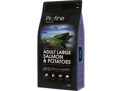 Сухой корм для взрослых собак крупных пород Profine Adult Large Salmon с лососем и картофелем 15 кг (8595602517619)