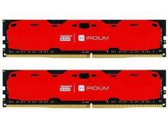 Goodram 16 Gb (2x8GB) DDR4 2400 MHz Iridium Red (IR-R2400D464L15S/16GDC)