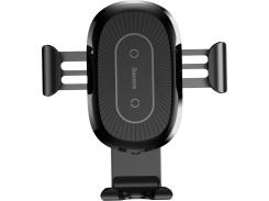 Baseus Car Holder Gravity Heukji Wireless Charger Black (WXZT-01)