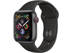 Apple Watch Series 4 40mm GPS+LTE Space Gray Aluminum Case with Black Sport Band (MTUG2, MTVD2)