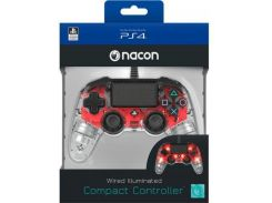 Nacon Compact Wired for PS4 Light Red
