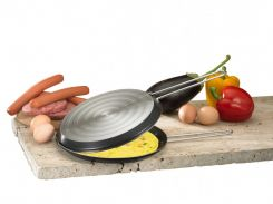 Сковорода двойная для блинов 2.0мм, 5-ти слойное покрытие, м 049.00 FRABOSK