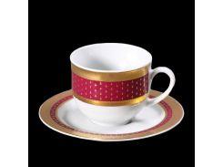 Чашка с блюдцем 135 ( 165мл ) 12пр./6п . opal Thun фарфор 00000001598