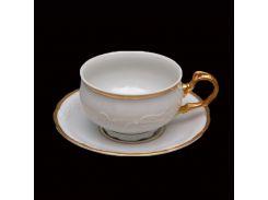 Чашка с блюдцем 180 ( 410мл ) 12пр./6п . tulip Thun фарфор 00000003885