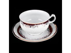 Чашка с блюдцем 145 ( 210мл ) tulip Thun фарфор 00000003924