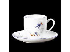 Чашка с блюд . выс. 155 ( 250мл ) 12пр./6п . saphyr Thun фарфор 00000001241