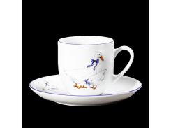 Чашка с блюд . выс. 135 ( 170мл ) 12пр./6п . saphyr Thun фарфор 00000001230