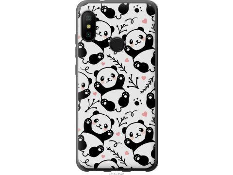 Чехол на Xiaomi Redmi 6 Pro Панды (4318t-1595-22700)