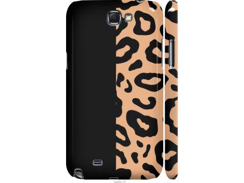 Чехол на Samsung Galaxy Note 2 N7100 Пятна леопарда (4269m-17-22700)
