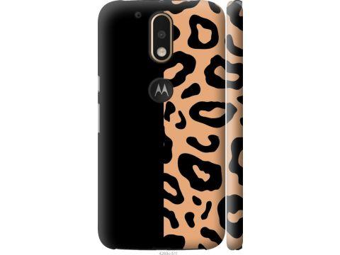 Чехол на Motorola MOTO G4 Пятна леопарда (4269c-511-22700)