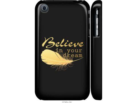 Чехол на iPhone 3Gs Верь в свою мечту (3748m-34-22700)