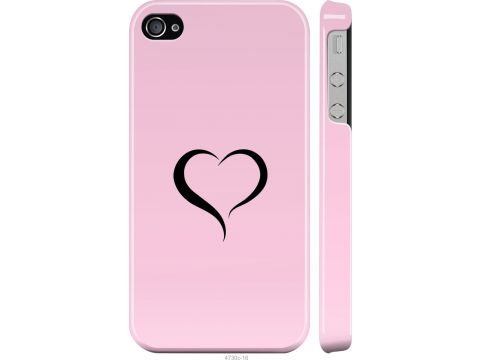 Чехол на iPhone 4s Сердце 1 (4730m-12-22700)