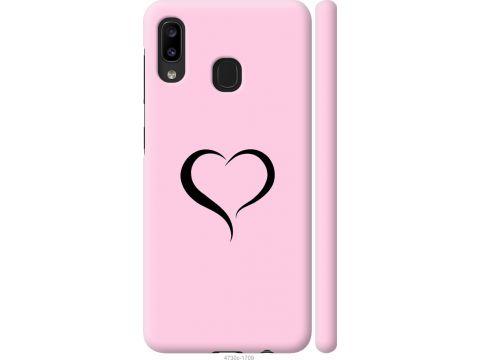 Чехол на Samsung Galaxy A20e A202F Сердце 1 (4730m-1709-22700)
