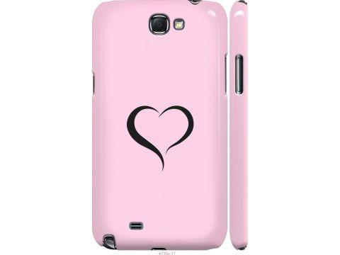Чехол на Samsung Galaxy Note 2 N7100 Сердце 1 (4730m-17-22700)