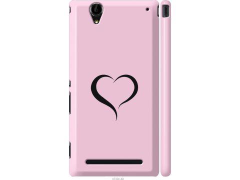 Чехол на Sony Xperia T2 Ultra Dual D5322 Сердце 1 (4730m-92-22700)