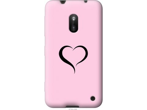 Чехол на Nokia Lumia 620 Сердце 1 (4730u-249-22700)