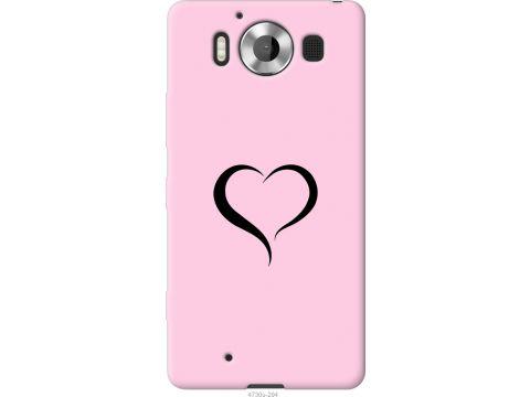 Чехол на Microsoft Lumia 950 Dual Sim Сердце 1 (4730u-294-22700)
